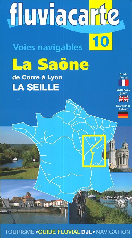 FLUVIACARTE N.10 ; la Saône, de Corre à Lyon