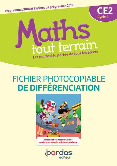 MATHS TOUT TERRAIN ; CE2 ; fichier de différenciation (édition 2020)