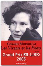 Vente Livre Numérique : Les Vivants et les Morts - Prix RTL/LIRE 2005  - Gérard Mordillat