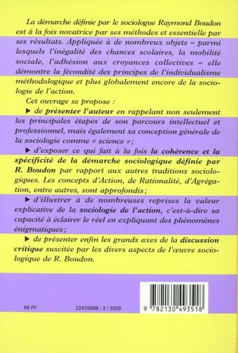 Premières leçons sur la sociologie de Raymond Boudon