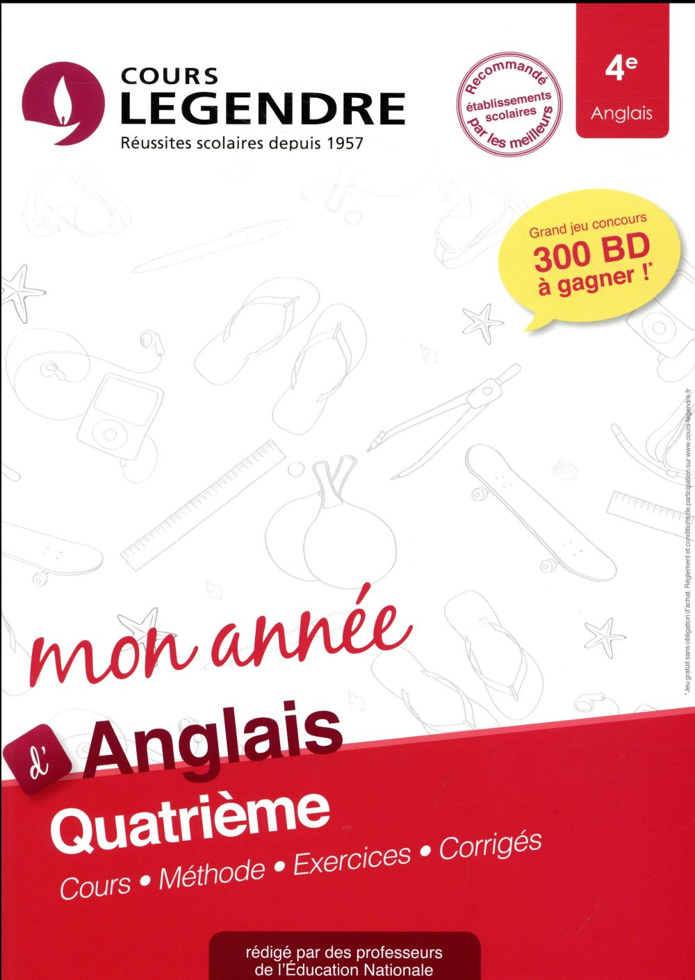Cours Legendre ; anglais ; 4e année