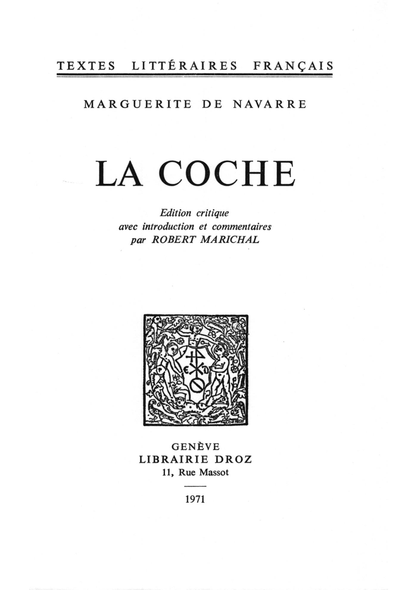La Coche  - Marguerite De Navarre