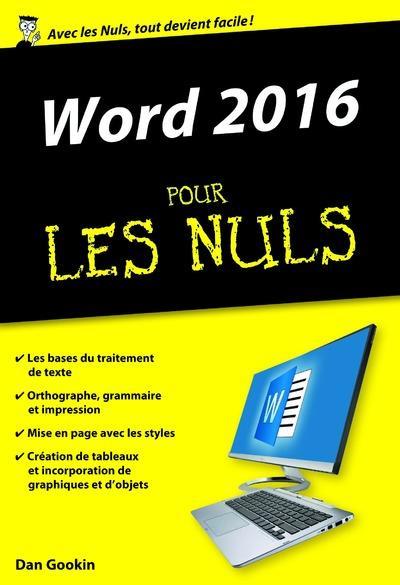 Gookin Dan - WORD 2016 POCHE POUR LES NULS