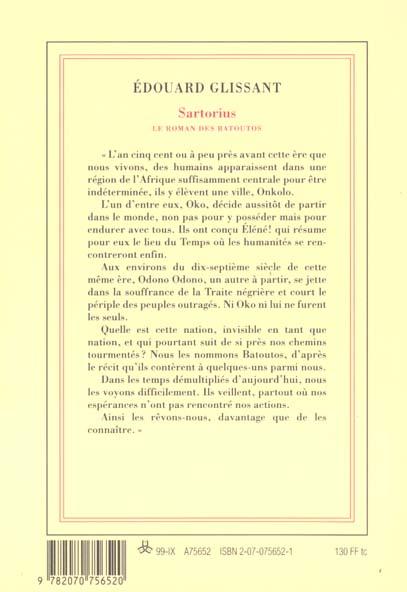 sartorius - le roman des batoutos