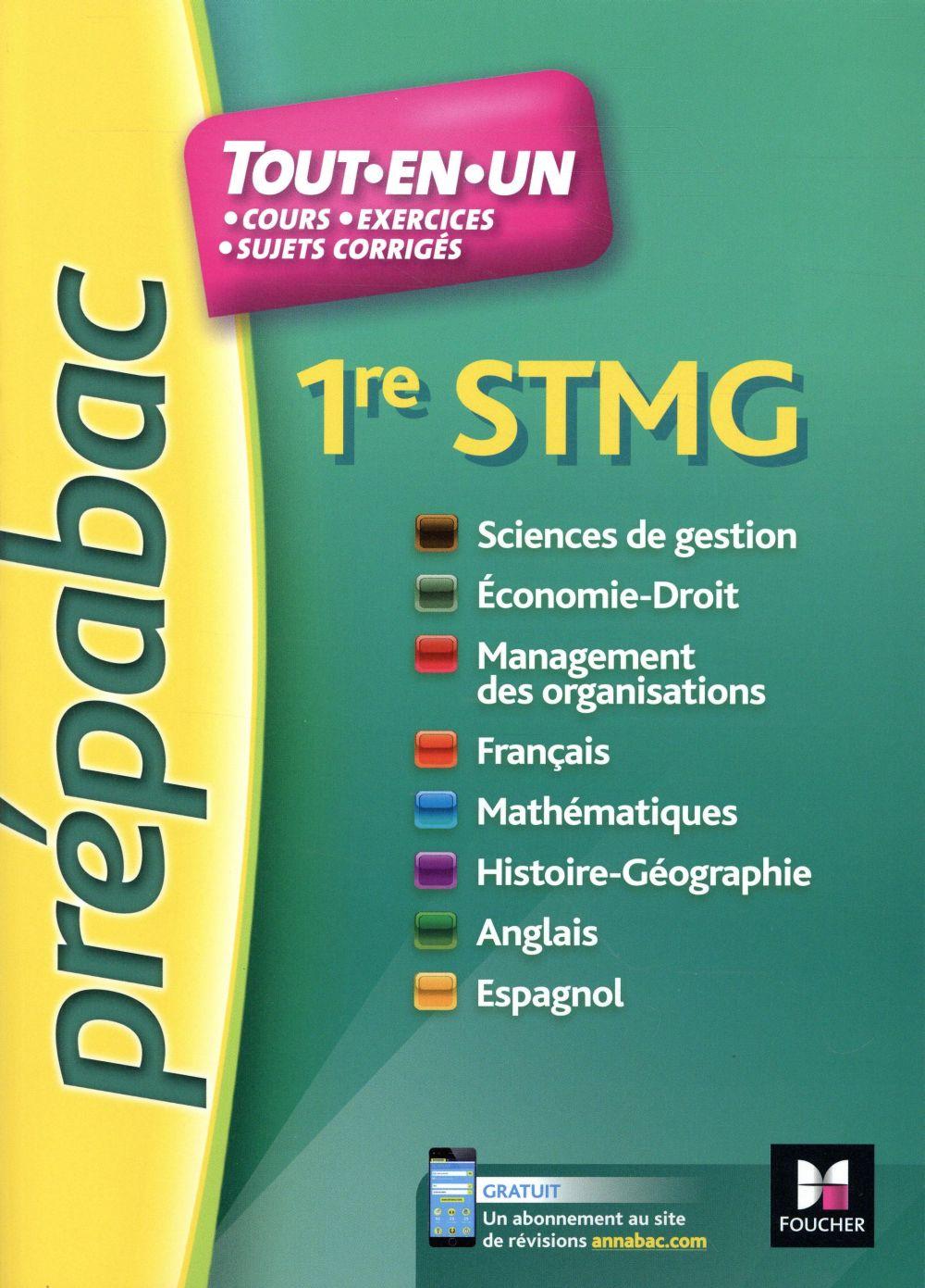 PREPABAC ; toutes les matières ; 1re STMG ; révision et entraînement
