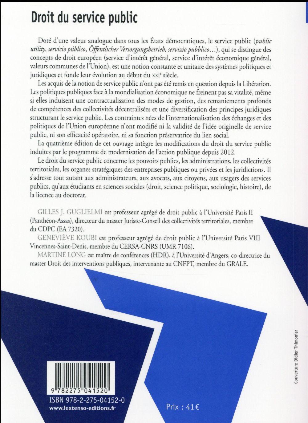 droit du service public (4e édition)