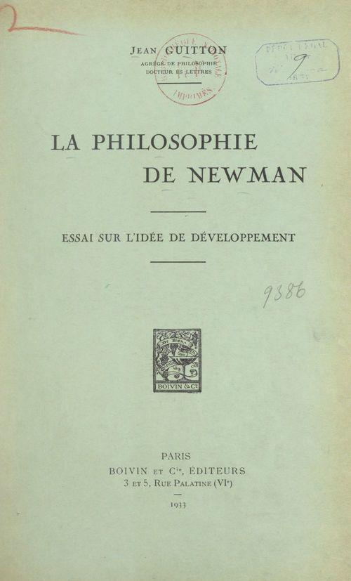 La philosophie de Newman