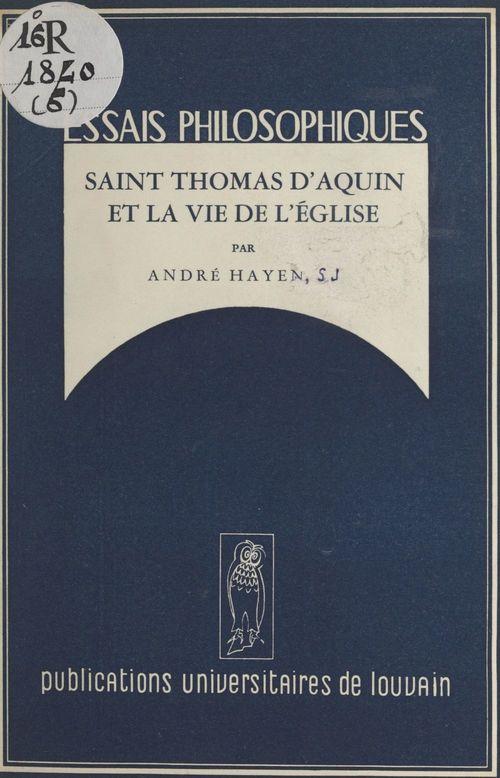 Saint Thomas d'Aquin et la vie de l'Église