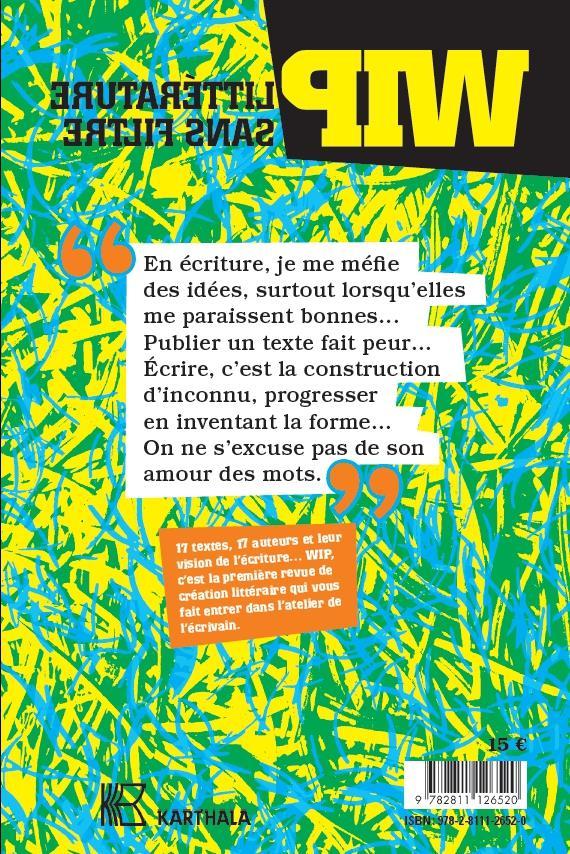 Wip, litterature sans filtre n.3 ; juin 2019