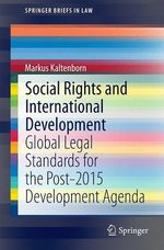Social Rights and International Development  - Markus Kaltenborn