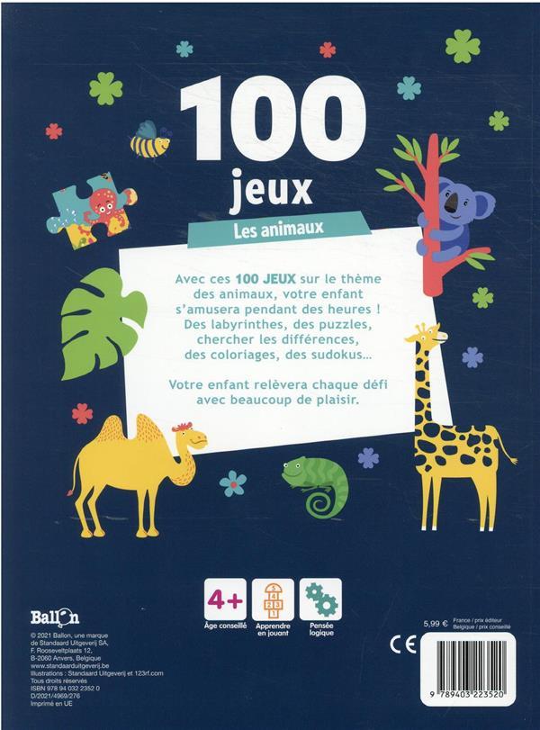 100 jeux les animaux