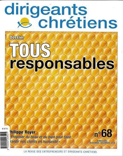 Dirigeants chrétiens n.68 ; tous responsables ; novembre /décembre 2014