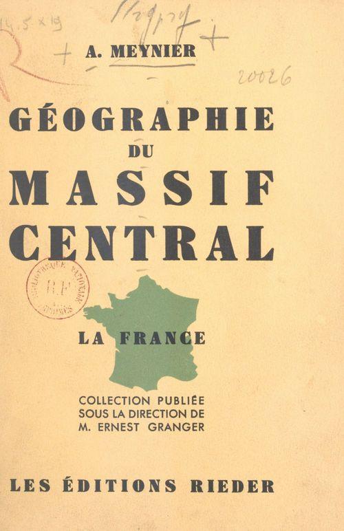 Géographie du massif central