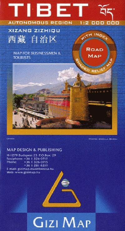 Tibet  1/2m  (road map)