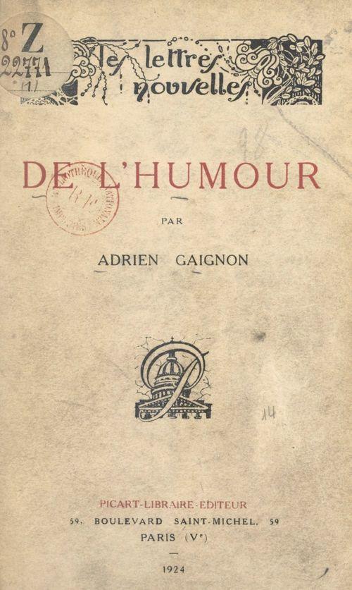 De l'humour  - Adrien Gaignon