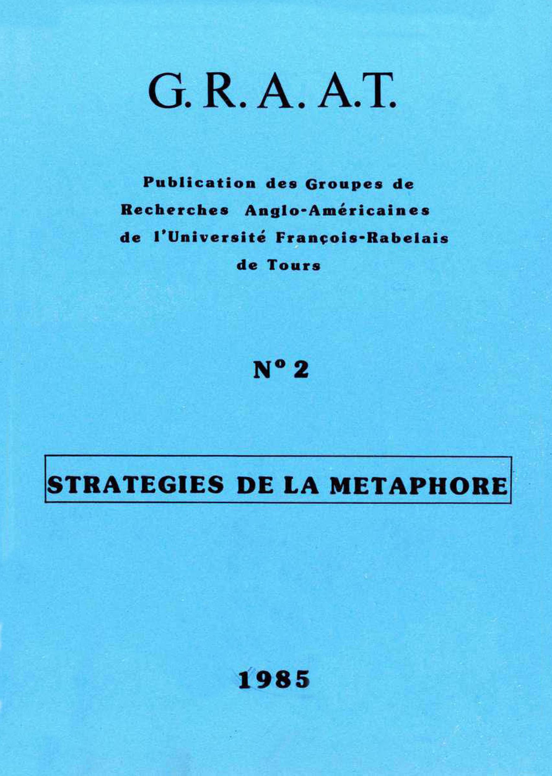 Stratégies de la métaphore