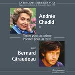 Vente AudioBook : Textes pour un poème, Poèmes pour un texte  - Andrée CHEDID