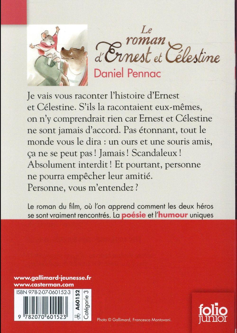 Ernest et Célestine ; le roman