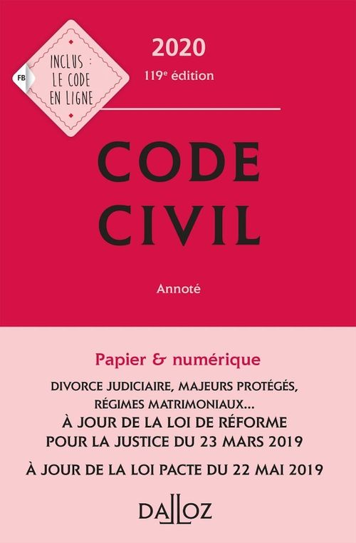 Code civil 2020, annoté - 119e éd.