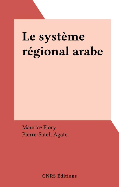 Systeme regional arabe