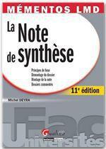 Vente Livre Numérique : Mémentos LMD. La note de synthèse - 11e édition  - Michel Deyra