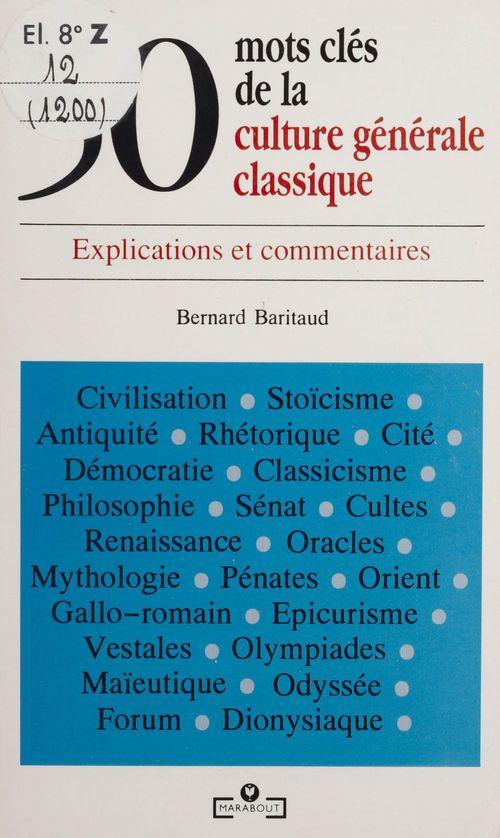 50 mots cles culture generale classique
