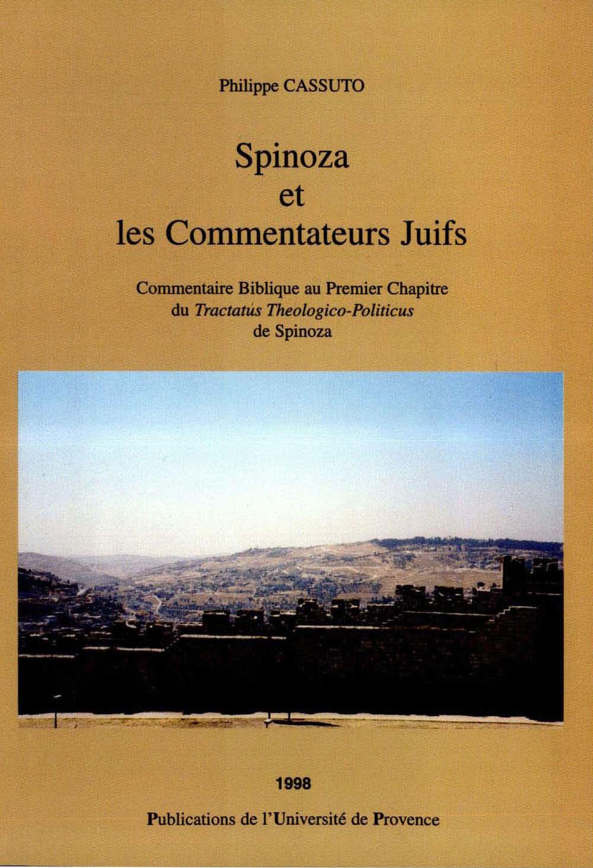 Spinoza et les commentateurs juifs : commentaire biblique au premier chapitre du Tractatus Theologico-Politicus de Spinoza