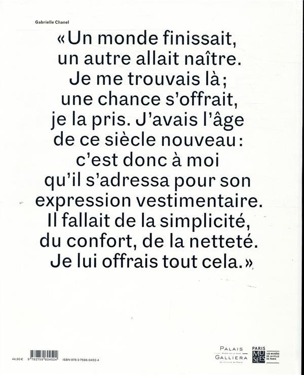 Gabrielle Chanel ; catalogue officiel, manifeste de mode