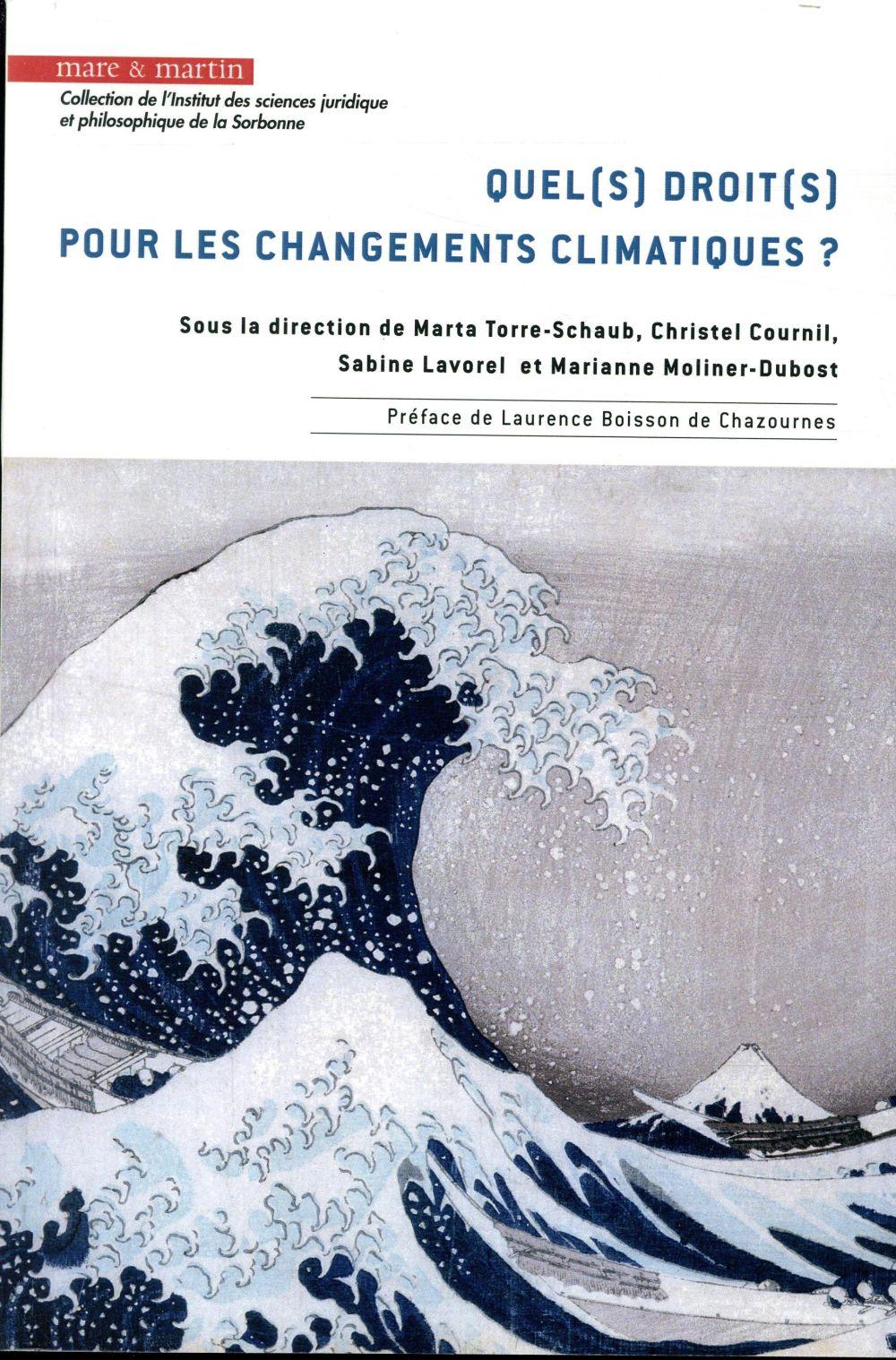 Quel(s) droit(s) pour les changements climatiques ?