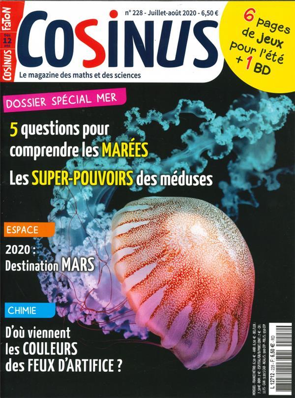 Cosinus n  228 les meduses et les marees - juillet-aout 2020