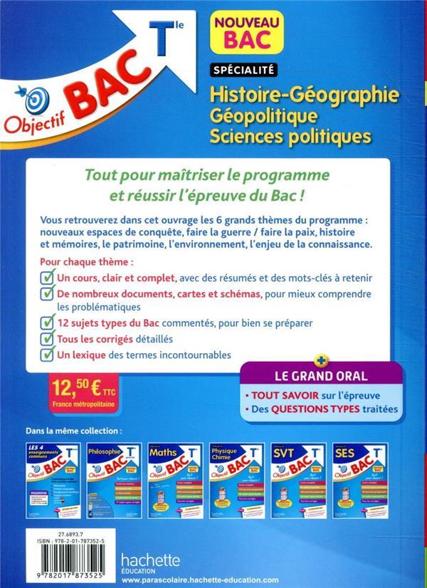 objectif bac ; spécialité histoire-géographie, géopolitique, sciences politiques ; terminale