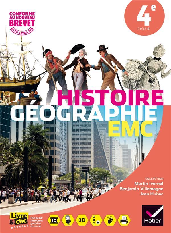 Histoire-géographie ; enseignement moral et civique ; 4ème ; manuel de l'élève ; format compact (édition 2016)
