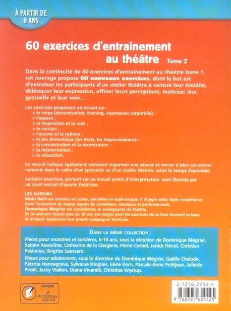 60 Exercices D Entrainement Au Theatre T 2 Alain Heril Retz Grand Format Espace Culturel Leclerc St Leu