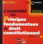 Vente Livre Numérique : L'essentiel des principes fondamentaux de droit constitutionnel 2014-2015 - 2e édition  - Isabelle Thumerel - Gilles Toulemonde