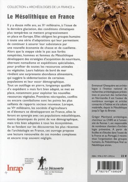 le mésolithique en France ; archéologie des derniers chasseurs-cueilleurs