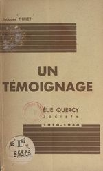 Un témoignage : Élie Quercy, jociste, 1916-1938