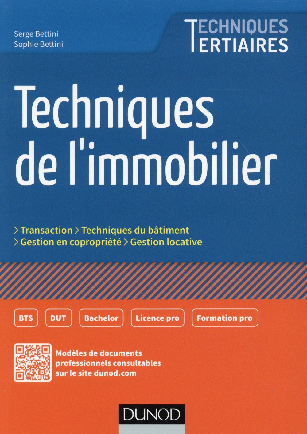 Techniques de l'immobilier (édition 2016)
