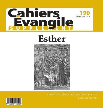 CAHIERS DE L'EVANGILE N.190  -  ESTHER  -  SUPPLEMENT
