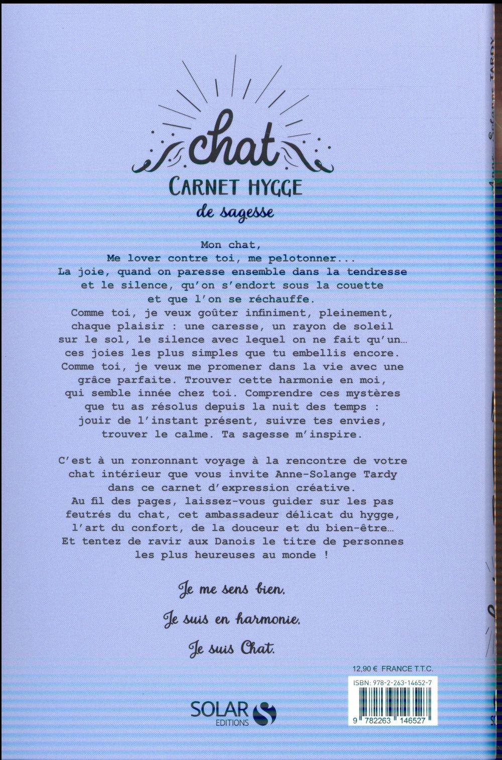 Chat ; carnet hygge de sagesse
