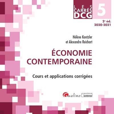 DCG 5 : économie contemporaine ; cours et applications corrigées (édition 2020/2021)