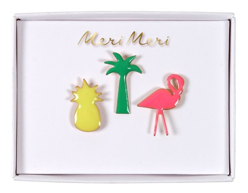 BROCHES VERNIES TROPICALES