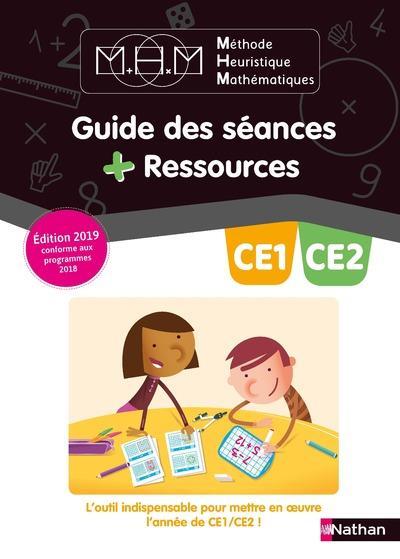 Méthode heuristique de mathématiques ; CE1, CE2 ; guide des séances + ressources (édition 2019)