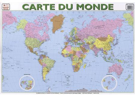 Carte du monde ; posters recto verso