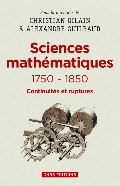 Les sciences mathématiques 1750-1850