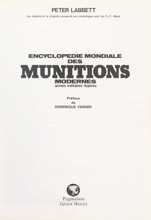 Encyclopédie mondiale des munitions modernes