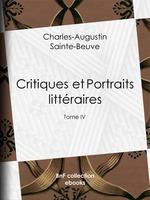 Vente EBooks : Critiques et Portraits littéraires  - Charles-Augustin SAINTE-BEUVE
