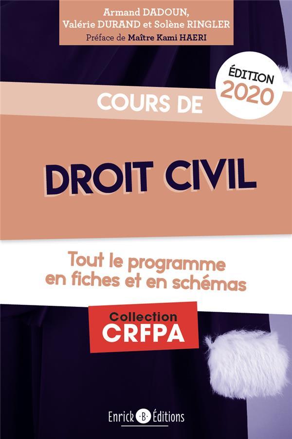 Cours de droit civil ; tout le programme en fiches et en shémas (édition 2020)