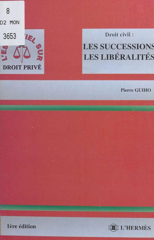 Les successions les liberalites
