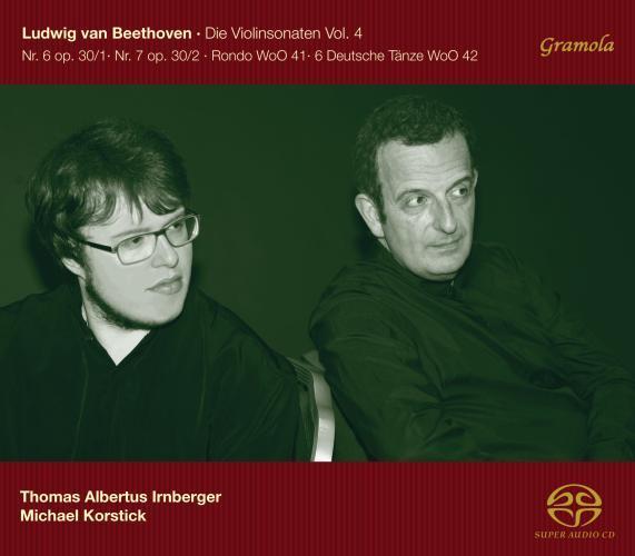 Beethoven : sonates pour violon, vol. 4. Irnberger, Korstick.