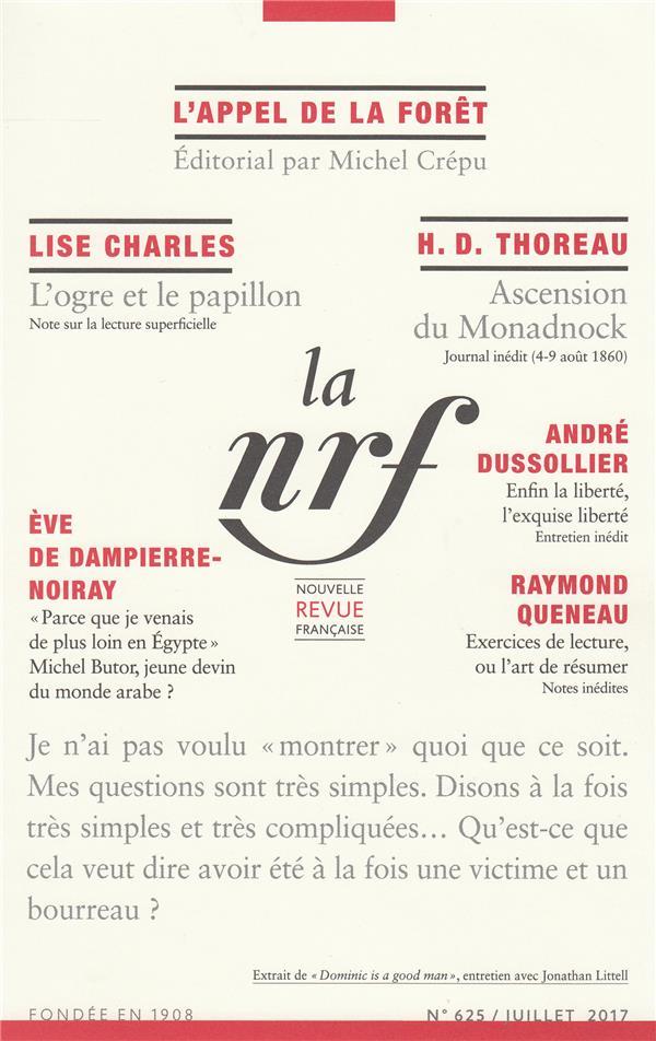 La nouvelle revue francaise n.625